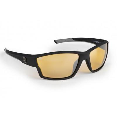 Fox Rage Matt Black Frame/Amber Lense Wrap Sunglasses