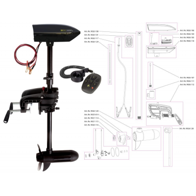 Black Cat Battle Cat Elektro-Aussenbordmotor BC2400