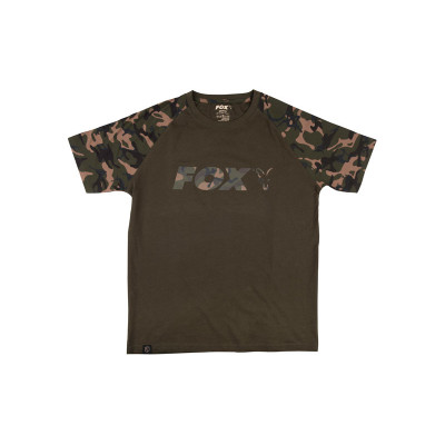 Fox Camo/Khaki Chest Print T-Shirt