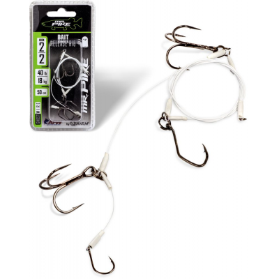 Quantum Mr.Pike Ghost Traces Bait-Release-Rig weiss 50cm