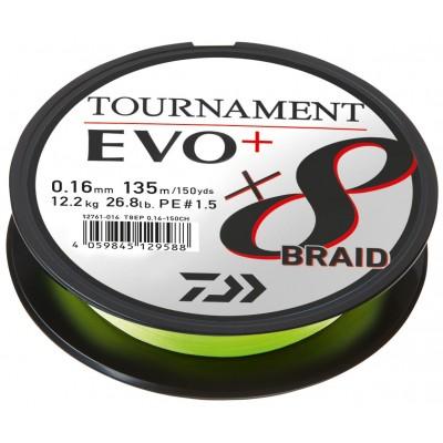 Daiwa Tournament X8 Braid EVO+ chartreuse Meterware