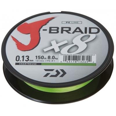 Daiwa J-Braid Chartreuse - Meterware