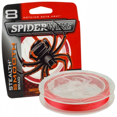 Spiderwire Stealth Smooth 8 Red Meterware