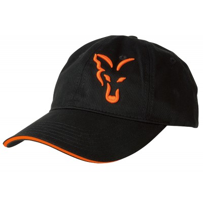 Fox Black & Orange Baseball Cap