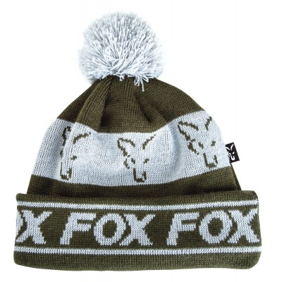 Fox Green/Silver - Lined Bobble Hat