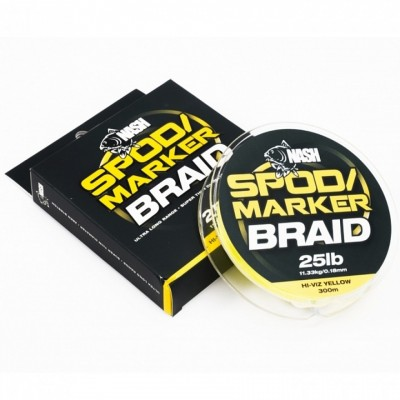 Nash Spod & Marker Braid Hi Viz Yellow 0,18mm