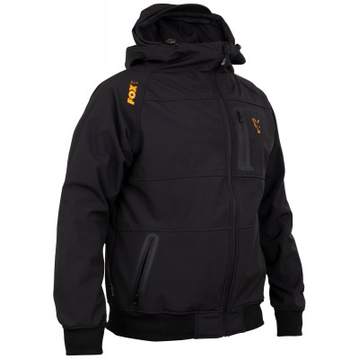 Fox Collection Black & Orange Shell Hoodie