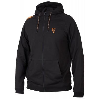 Fox Collection Black & Orange Lightweight Hoodie