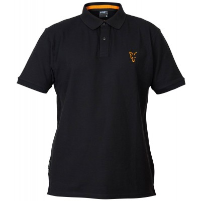 Fox Collection Black & Orange Polo Shirt