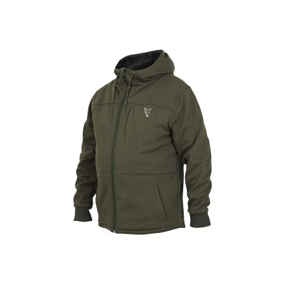Fox Collection Sherpa Hoody Green & Silver