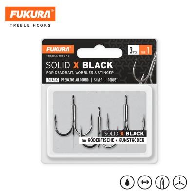 Lieblingsköder FUKURA Drillinge Solid X Black