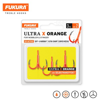 Lieblingsköder FUKURA Drillinge Ultra X Orange