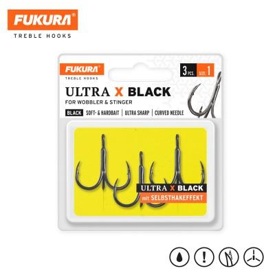 Lieblingsköder FUKURA Drillinge Ultra X Black