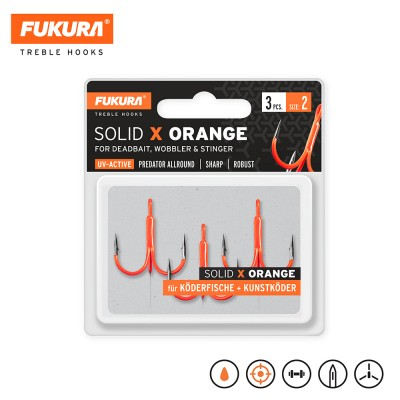 Lieblingsköder FUKURA Drillinge Solid X Orange